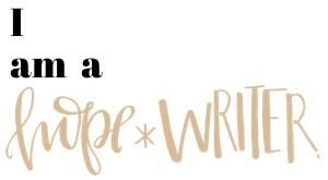 """""""hope-writer"""""""